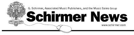 Schirmer News